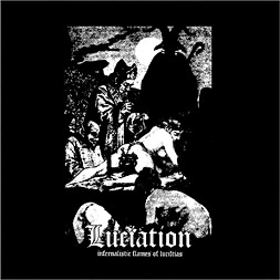 Luciation 'Infernalistic Flames of Luciftias' CD cover